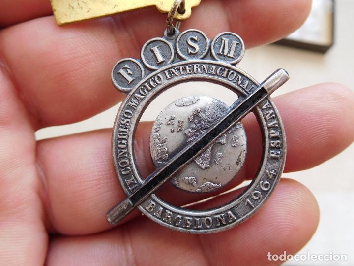 MEDALLA CONGRESO INTERNACIONAL DE MAGIA BARCELONA AÑO 1964 (Numismática - Medallería - Trofeos y Conmemorativas)