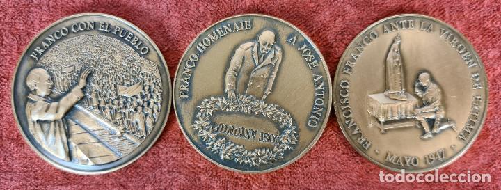 CONJUNTO DE 3 MEDALLAS DE BRONCE. FUNDACION NACIONAL FRANCISCO FRANCO. 2005. (Numismática - Medallería - Trofeos y Conmemorativas)