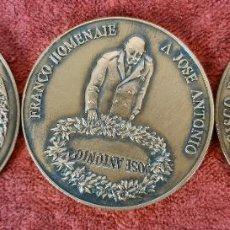 Trofeos y medallas: CONJUNTO DE 3 MEDALLAS DE BRONCE. FUNDACION NACIONAL FRANCISCO FRANCO. 2005.. Lote 269804338