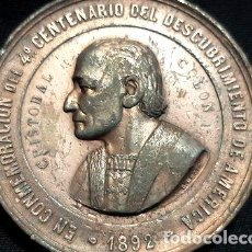 Troféus e medalhas: MEDALLA 4 CENTENARIO DEL DESCUBRIMIENTO DE AMERICA 1892. Lote 270441988