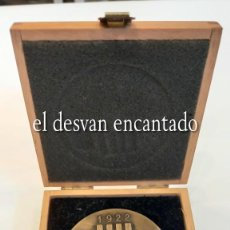 Trofeos y medallas: FOMENT EXCURSIONISTA DE BARCELONA. MEDALLA ACUÑACION PUJOL. GRABADA AL DORSO. Lote 275654058