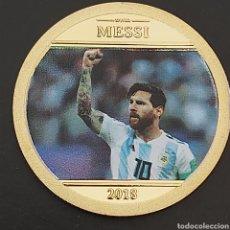 Troféus e medalhas: PRECIOSA MONEDA DE ORO HOMENAJE A MESSI.. Lote 277035463