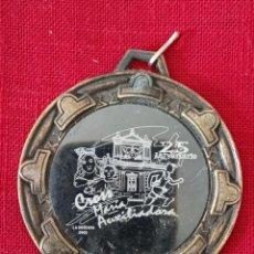 Trofeos y medallas: MEDALLA 25 ANIVERSARIO CROSS MARÍA AUXILIADORA LA OROTAVA TENERIFE 2002. Lote 277477853