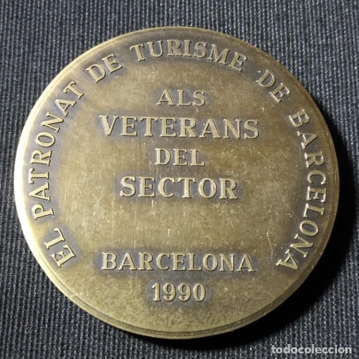Trofeos y medallas: Casa Milà La Pedrera de Antonio Gaudí, conmemora Turismo de Barcelona 1990, Medalla de Bronce, Pujol - Foto 2 - 277510083