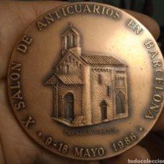 Trofeos y medallas: MEDALLÓN DE BRONCE BARCELONA SALO D ANTIQUARIS. Lote 279335903