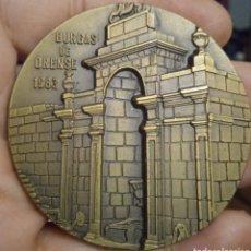 Trofeos y medallas: MEDALLÓN DE BRONCE BURGAS DE ORENSE. Lote 279335998