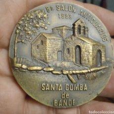Trofeos y medallas: SANTA COMBA DE BANDE MEDALLÓN DE BRONCE. Lote 279336048