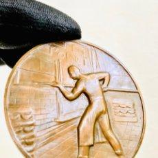 Trofeos y medallas: MEDALLA DE BRONCE SINDICATO DE PANADEROS PLACA SYNDICAT GENÉRAL DE LA BOULANGERIE FRANCAISE MEDALLÓN. Lote 279496933