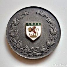 Trofei e Medaglie: 1966 H. HAZELDON MEDALLA BRITANICA ESCUDO S.R.S.A. LEON Y CORONA ESMALTADA - UNICA!! - 44.MM DIAMTRO. Lote 285459343