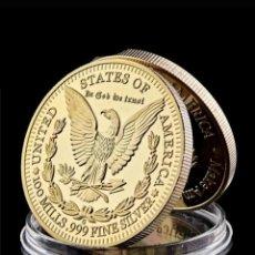 Trofeos y medallas: MONEDA DE ORO 24 K , ESTATUA DE LA LIBERTAD.ESTADOS UNIDOS. Lote 285674318