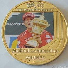 Trofei e Medaglie: EXCLUSIVA MONEDA DE ORO DE COLECCION DE MICHAEL SCHUMACHER. Lote 288134783