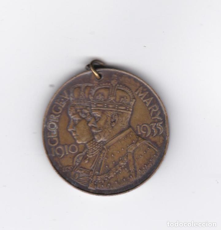 MEDALLA INGLESA-GEORGE V-MARY-1910/1935-NOTTINGHAMSHIRE COUNTY COUNCIL EDUCATION COMMITTE (Numismática - Medallería - Trofeos y Conmemorativas)