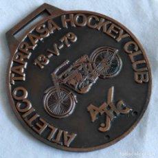 Trofeos y medallas: MEDALLA DE BRONCE ATLETICO TERRASA HOCKEY CLUB RALLY MOTOS ANTIGUAS TERRASSA 1979. Lote 295355933