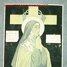 Varios objetos de Arte: SANTA TERESA DE JESÚS PUBLICIDAD ASPIRINA Nº REG. 892 B 13 X 18 CM. Lote 6783847