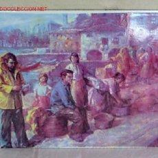 Arte: ESMALTE AÑOS 40 -.50 VII .. EL PUERTO. Lote 13642596