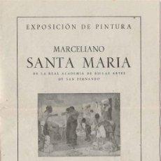 Varios objetos de Arte: BURGOS 1948 - EXPOSICIÓN PINTURA MARCELIANO SANTA MARÍA . Lote 27159555