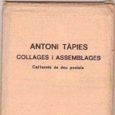 Varios objetos de Arte: ANTONI TAPIES : COLLAGES I ASSEMBLANCES : COL·LECCIO DE DEU POSTALS. BARCELONA : LLIB.DEL MALL, 1975. Lote 26808942