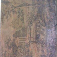 Varios objetos de Arte: TAPIZ PEQUEÑO.-ENMARCADO Y CRISTAL PROTECTOR. Lote 7874300