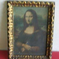 Varios objetos de Arte: CUADRO ÓLEO FOTOGRAFÍA .. MARCO DE MADERA DORADO .. AÑOS 40-50. Lote 18359192