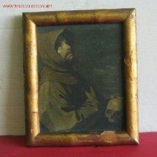 Varios objetos de Arte: CUADRO ÓLEO FOTOGRAFÍA .. MARCO DE MADERA DORADO .. AÑOS 40-50. Lote 23929115