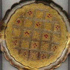 Varios objetos de Arte: PLATO DE MADERA ARTESANIA DE FLORENCIA ITALIA. Lote 26913571