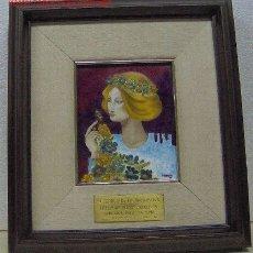 Varios objetos de Arte: GABARRO, ESMALTE FIRMADO M. GABARRO 86. Lote 27257917