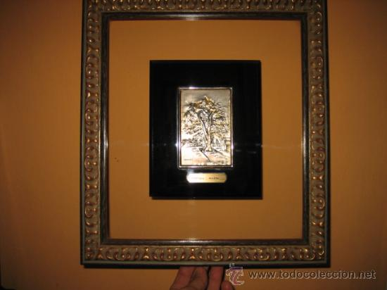 EL CARBAYON OVIEDO EN PLACA DE PLATA HISPANICA (Arte - Varios Objetos de Arte)