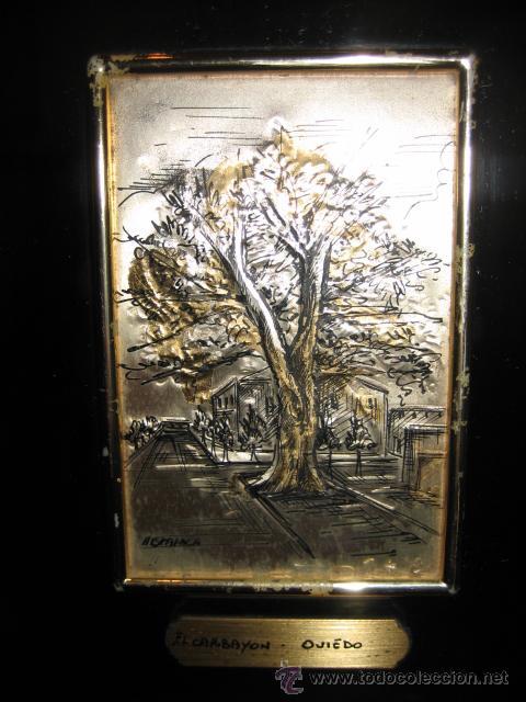 Varios objetos de Arte: EL CARBAYON OVIEDO EN PLACA DE PLATA HISPANICA - Foto 3 - 10549537