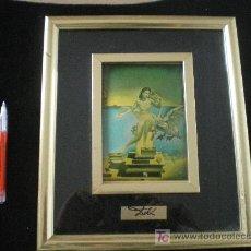Varios objetos de Arte: VIEJO CUADRO CON DOBLE MARCO. Lote 11174766