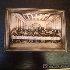 Varios objetos de Arte: CUADRO ANTIGUO SAGRADA CENA EN COBRE. Lote 26154872