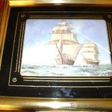 Varios objetos de Arte: GRAN CUADRO DE BARCO, MARCO METAL DORADO. Lote 12333962