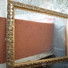Varios objetos de Arte: MARCO DE MADERA TALLADA Y DORADA. Lote 16989939