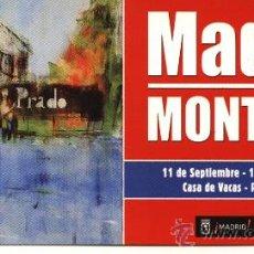 Varios objetos de Arte: TARJETA EXPOSICIÓN MONTESOL MADRID OTOÑO 2008 (PINTOR BARCELONÉS 1952). Lote 12990840