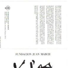 Varios objetos de Arte: BIOGRAFIA DE PAUL KLEE. FUNDACIÓN JUAN MARCH. 1981. ++ 3 EUROS ++. Lote 26608460