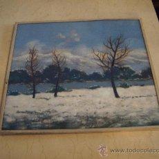 Varios objetos de Arte: CUADROS HECHOS CON LANA. Lote 23373000
