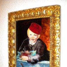 Varios objetos de Arte: PRECIOSO ESMALTE SOBRE COBRE.. Lote 26066079