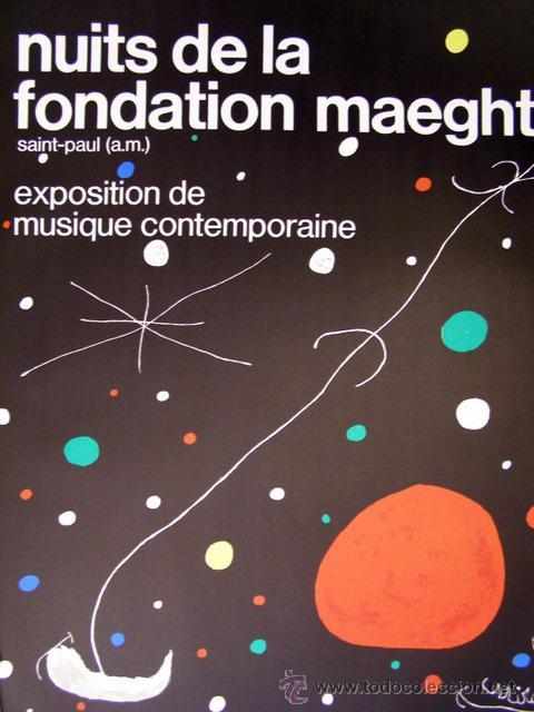 MIRO, J. (1893-1983). CARTEL EXPOSICION 1967. (Arte - Varios Objetos de Arte)
