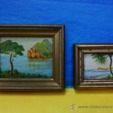 Varios objetos de Arte: MINI CUADRITOS PAISAJE. CONJUNTO DE 2 CUADROS AÑOS CINCUENTA. Lote 15014089