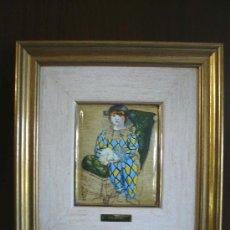 Varios objetos de Arte: - OPORTUNIDAD - CUADRO ESMALTE DE PICASSO, ARLEQUIN.. Lote 16113651