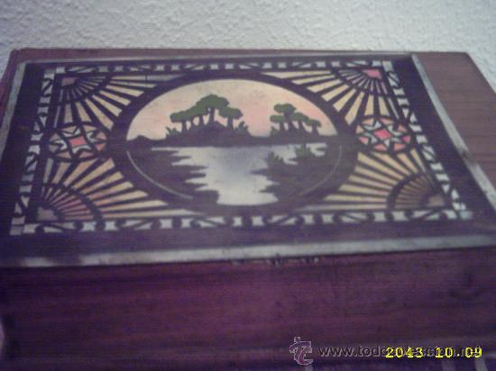 Varios objetos de Arte: Antigua tapa de caja pintada. 14x20 cms - Foto 2 - 22323714