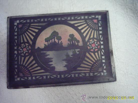 Varios objetos de Arte: Antigua tapa de caja pintada. 14x20 cms - Foto 3 - 22323714