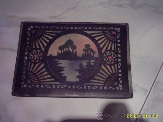 Varios objetos de Arte: Antigua tapa de caja pintada. 14x20 cms - Foto 5 - 22323714