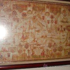 Varios objetos de Arte: CAUDRO MAPA DE EUROPA, ASIA Y AFRICA DEL SIGLO XVI. Lote 26080880