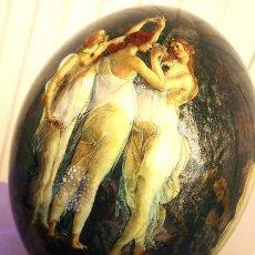 Varios objetos de Arte: LAS TRES GRACIAS REPRESENTADAS OVALMENTE PINTADAS AL OLEO. Lote 26319554