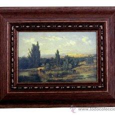 Varios objetos de Arte: CARLOS DE HAES (BRUSELAS-1829- MADRID-1898) CUADRO CON LIENZO IMPRESO ENVEJECIDO. Lote 27151242