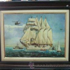 Varios objetos de Arte: CUADRO JUAN SEBASTIAN ELCANO EN RELIEVE. CUADRO-016. Lote 20450347