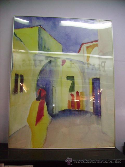 CUADRO DE AGUSTS MACKE:BLICK IN EINE GASSE MOSEUN MULHEINAN DER RUHR SAMMLUG ZIEGLER COPY DAN 1998 (Arte - Varios Objetos de Arte)