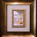 Varios objetos de Arte: PINTURA INDIA EN PLACA MARFIL PINTADA, DOS MUJERES. Lote 27440300