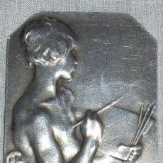 Varios objetos de Arte: ANTIGUA PLACA DE PLATA FRANCESA, BIFRONTE, FIRMADA. SXIX. Lote 27236604