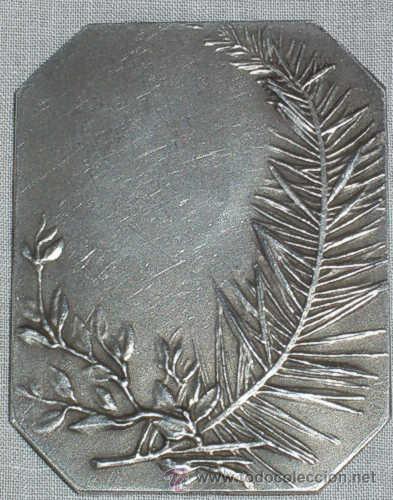 Varios objetos de Arte: ANTIGUA PLACA DE PLATA FRANCESA, BIFRONTE, FIRMADA. SXIX - Foto 3 - 27236604